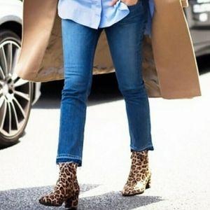 Michael Kors Izzy Skinny Jeans with Raw Hem